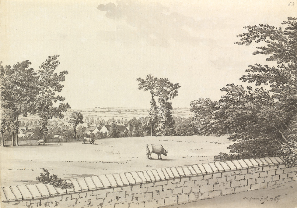 Dr Harrington's House At Kelston, From The Upper Bristol Road